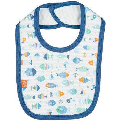 Magnificent Baby Here, Fishy Fishy Reversible Bib - Blue - 1 ct.