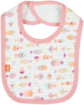 Magnificent Baby Here, Fishy Fishy Reversible Bib - Pink - 1 ct.