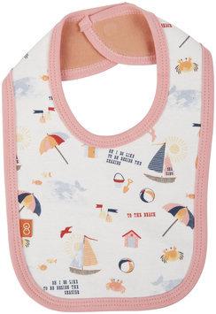 Magnificent Baby Seaside Reversible Bib - Pink - 1 ct.