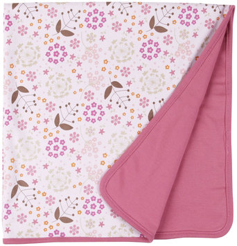 Magnificent Baby Mod Floral Reversible Blanket (Baby) - Pink - 1 ct.