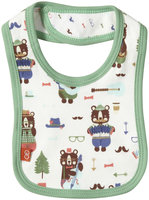 Magnificent Baby Hipster Bear Band Bib (Baby) - Green - 1 ct.