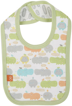 Magnificent Baby Hippo Friends Reversible Bib - Green - 1 ct.
