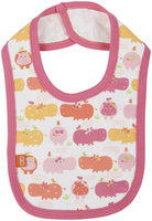 Magnificent Baby Hippo Friends Reversible Bib - Pink - 1 ct.