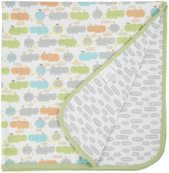 Magnificent Baby Hippo Friends Reversible Blanket - Green - 1 ct.