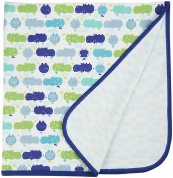 Magnificent Baby Hippo Friends Reversible Blanket - Blue - 1 ct.