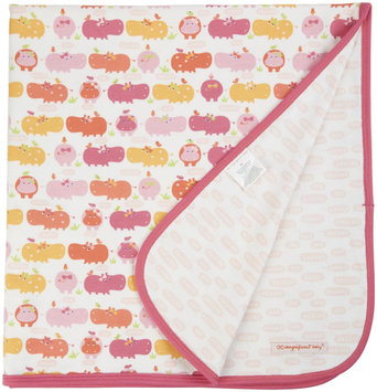 Magnificent Baby Hippo Friends Reversible Blanket - Pink - 1 ct.