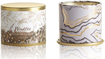 Illume(r) Demi Vanity Tin Candle - Woodfire by Illume