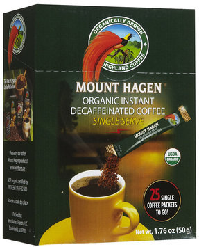 Mount Hagen Organic Decaffeinated Instant Coffee Single Serve