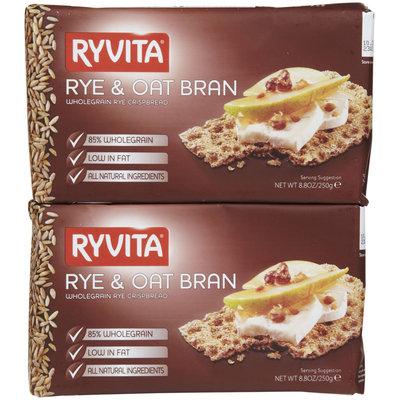 Ryvita Crisp Bread Ryvita B37285 Ryvita Rye and Oat High Fiber Bran -10x8.8 Oz