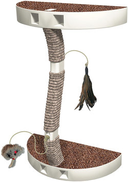 Innovation Pet Kitty Connection Sisal Post & Toy Package-10.63X4.8X17in
