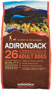 Adirondack 26 Active Recipe For Adult Dogs - Pork