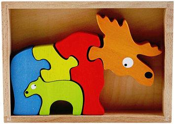 Begin Again Moose and Calf Family Puzzle