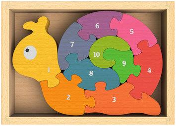 Begin Again BeginAgain Inventor Number Snail Puzzle