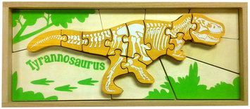 Begin Again Dinosaur Skeleton Puzzle-Triceratops