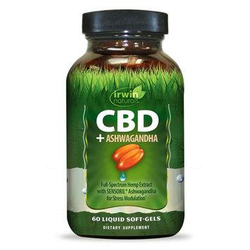 irwin naturals® CBD +Ashwagandha Liquid Soft-Gels