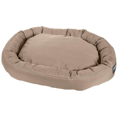 Stainmaster Plush Oval Pet Bed Color: Khaki, Size: Medium - 36