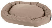 Stainmaster Plush Oval Pet Bed Color: Khaki, Size: Large - 42