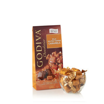 Godiva Milk Chocolate Salted Toffee Caramels