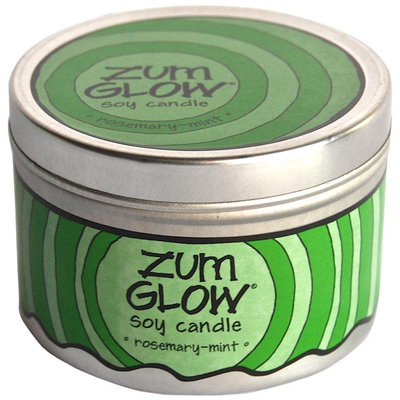 Zum Glow Soy Candle Rosemary-Mint 7 oz Tin
