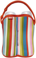 Built NY BUILT Bottle Buddy: Two Bottle Tote - Baby Pink Stripe - 1 ct.