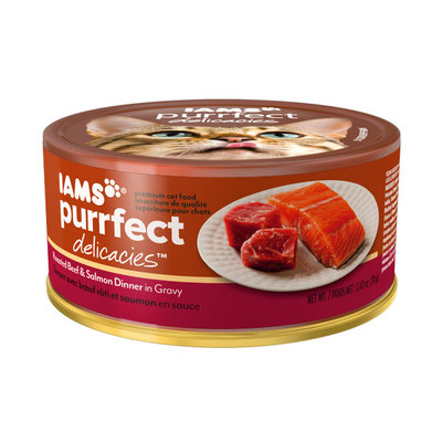 Iams™ Purrfect Delicacies™ Roasted Beef & Salmon Dinner in Gravy Cat Food