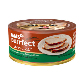 Iams™ Purrfect Delicacies™ Slow-cooked Turkey & Liver Dinner in Gravy Cat Food