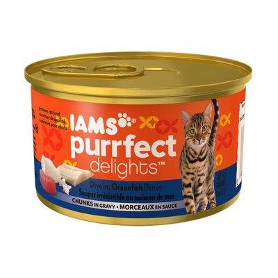 Iams™ Purrfect Delights™ Dive In, Oceanfish Dinner Chunks in Gravy Cat Food
