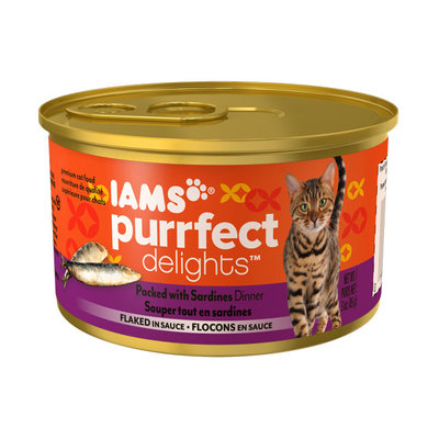 Iams™ Purrfect Delights™ Packed with Sardines Dinner Flaked in Sauce Cat Food
