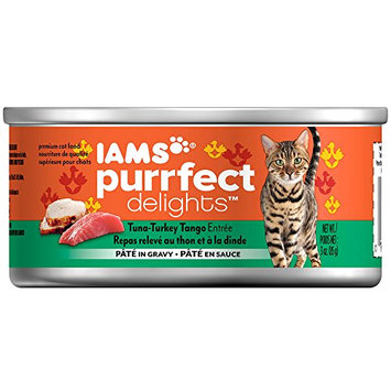 Iams™ Purrfect Delights™ Tuna-Turkey Tango Entree Pate in Gravy Cat Food