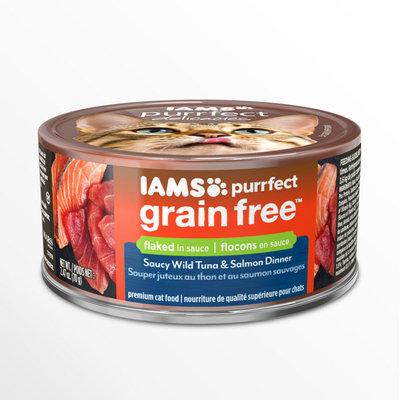 Iams™ Purrfect Grain Free Saucy Wild Tuna & Salmon Dinner Wet Cat Food