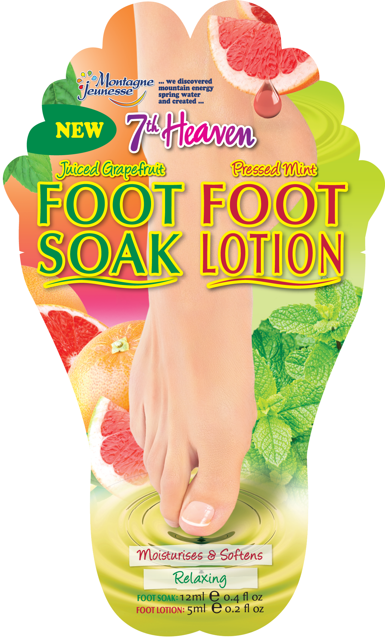 7th Heaven Juiced Grapefruit Foot Soak & Pressed Mint Foot Lotion