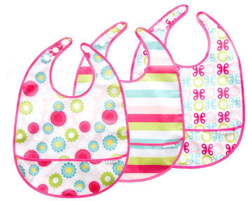 JJ Cole 3 Pack Bib Girl Set