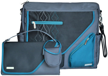Jj Cole Collections JJ Cole Metra Diaper Bag in Blue Diamond