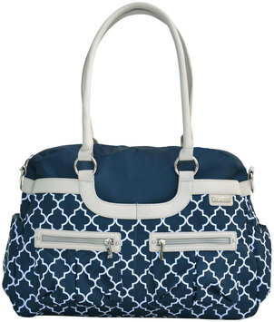 Jj Cole Collections JJ Cole Satchel Diaper Bag in Navy Arbor