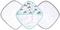 JJ Cole Washcloth Set & Bath Mitt Set - Aqua Whales - 3 ct