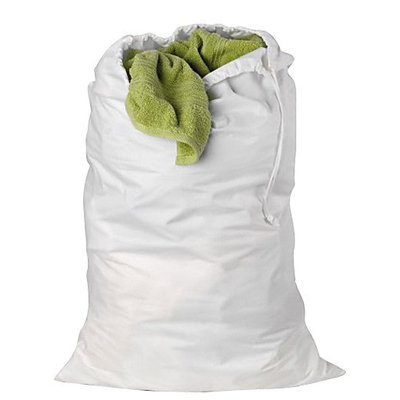 Honey Can Do Cotton Laundry Bag in White (Set of 3)