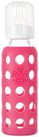 Lifefactory Glass Bottle w/ Sleeve - 9 oz - Raspberry