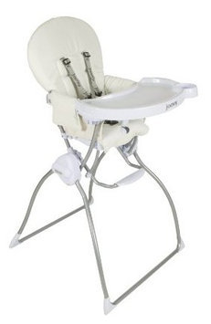 Joovy Nook High Chair - White Leatherette