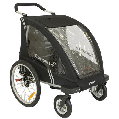Joovy Cocoon X2 Enclosed Double Stroller - Black