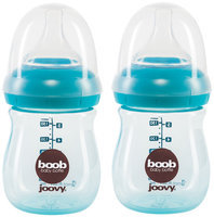 JoovyA Boob 5-Ounce Baby Bottle in Turquoise (2-Pack)