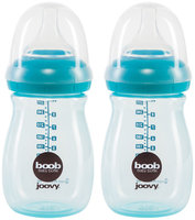 JoovyA Boob 9-Ounce Baby Bottle in Turquoise (2-Pack)