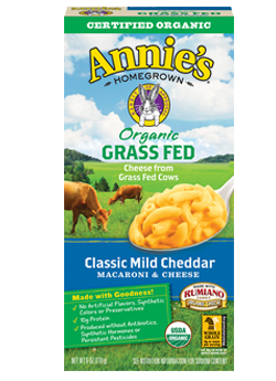 Annie's®  Homegrown  Organic Grass Fed Classic Mild Cheddar Macaroni & Cheese