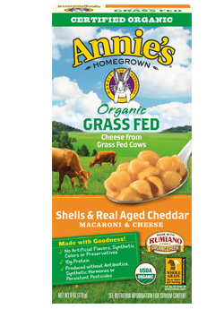 Annie's®  Homegrown  Organic Grass Fed Shells & Real Aged Cheddar Macaroni & Cheese