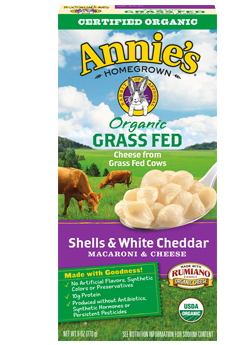 Annie's®  Homegrown Organic Grass Fed Shells & White Cheddar Macaroni & Cheese