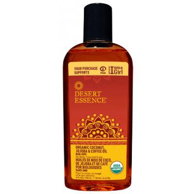 Desert Essence Organic Coconut, Jojoba, & Coffee Oil