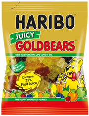 HARIBO Juicy Gold Bears Gummi Candy