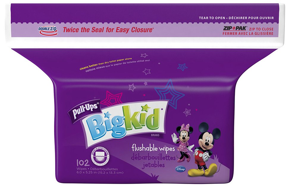 Huggies Pull-Ups Big Kid Flushable Wipes Pack - 102ct