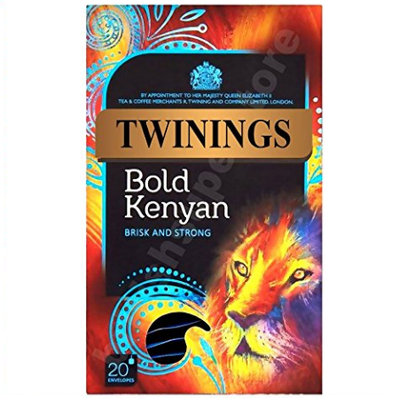 TWININGS Bold Kenyan BRISK AND STRONG Tea Bags