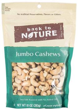 Back To Nature Jumbo Cashews, Sea Salt, Roasted, 10 oz