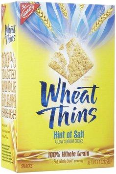 Wheat Thins Crackers w/ a Hint of Salt, 10 oz